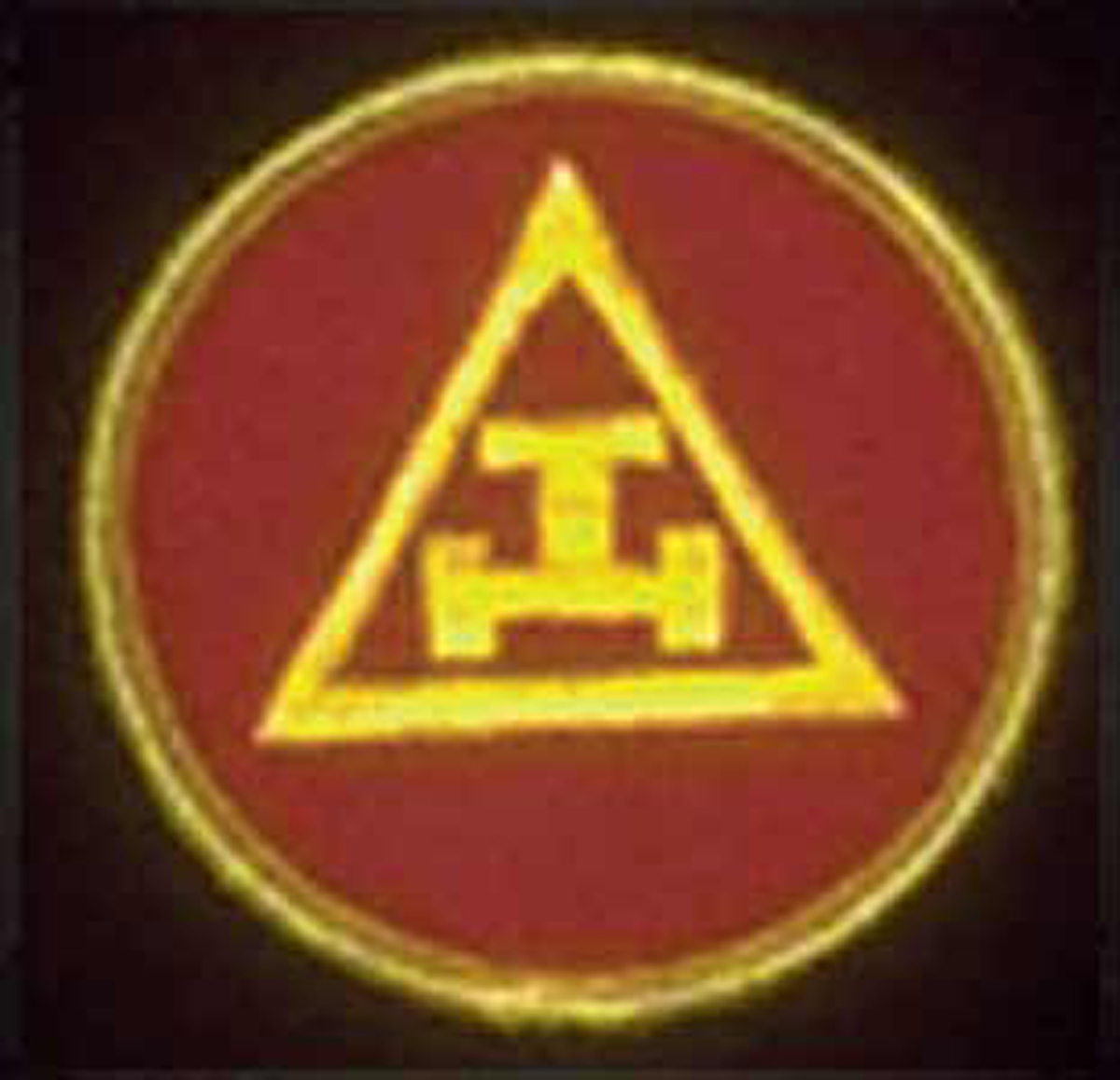 Triple Tau Patch - Gold on Red