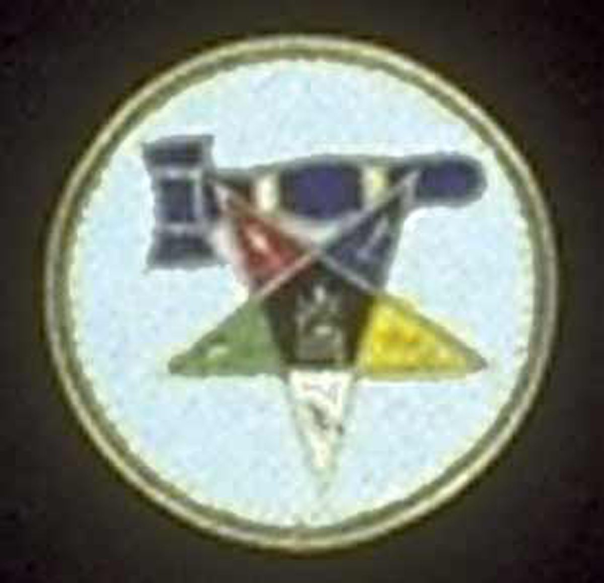 OES Past Matron Round Patch