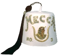 Daughters of Isis Rhinestone Fez - Double Row