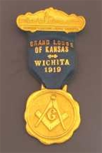 Antique Kansas Masonic Home 1919 Badge