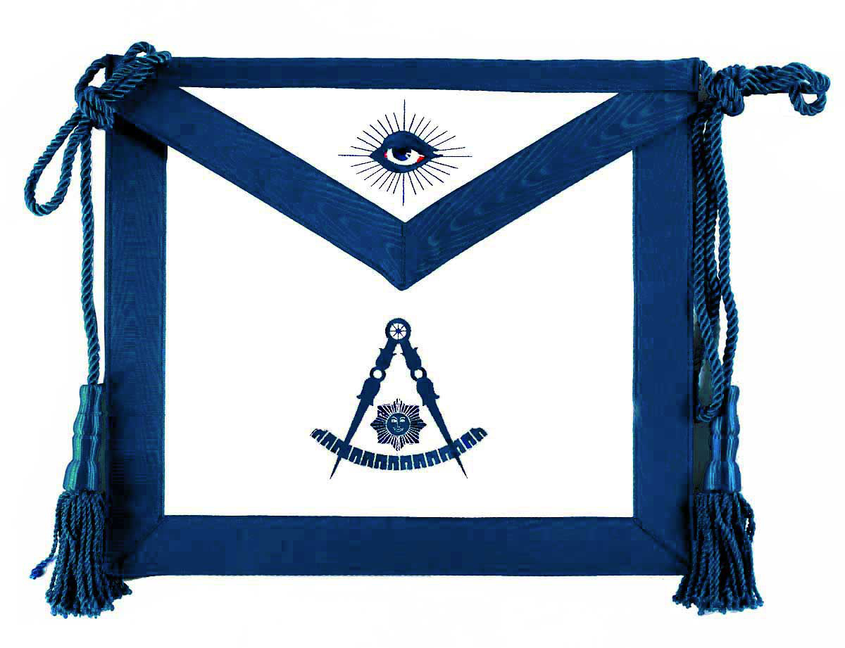 Past Master Apron with emblem only
