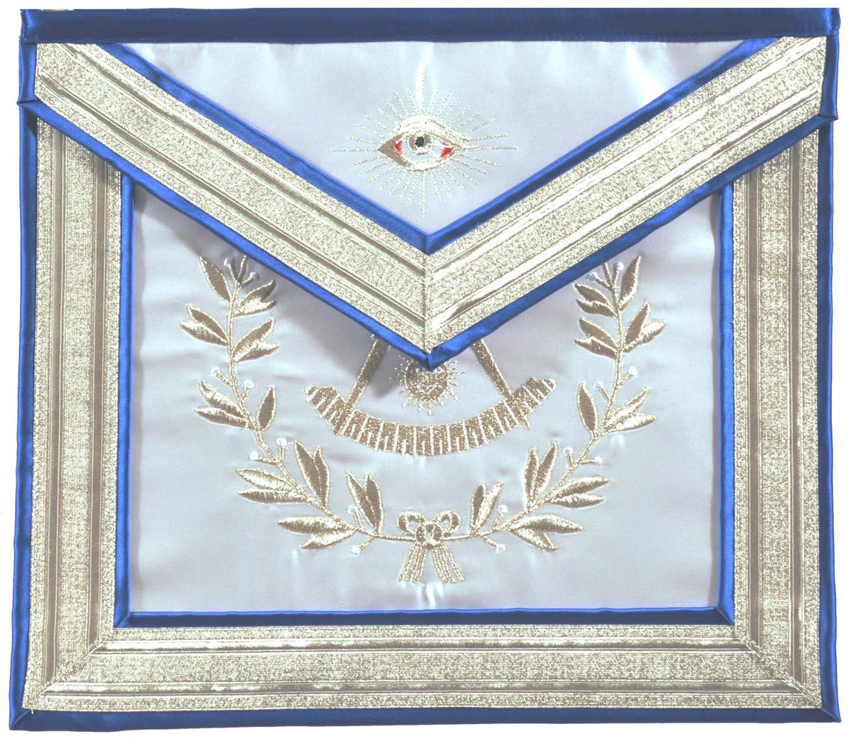 Past Master Masonic Apron with Non-Tarnish Embroidery