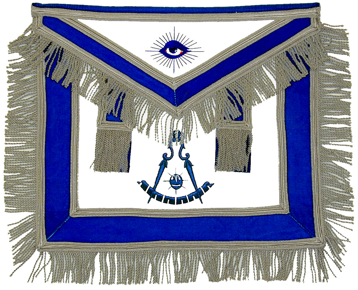 Masonic Past Master Apron with side tabs - Leather