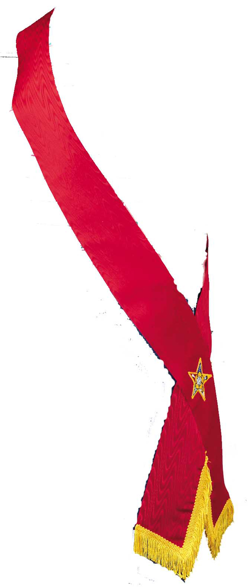 Lined-ribbon-Officer-sash-with-Star-Point-emblem-P3119.aspx
