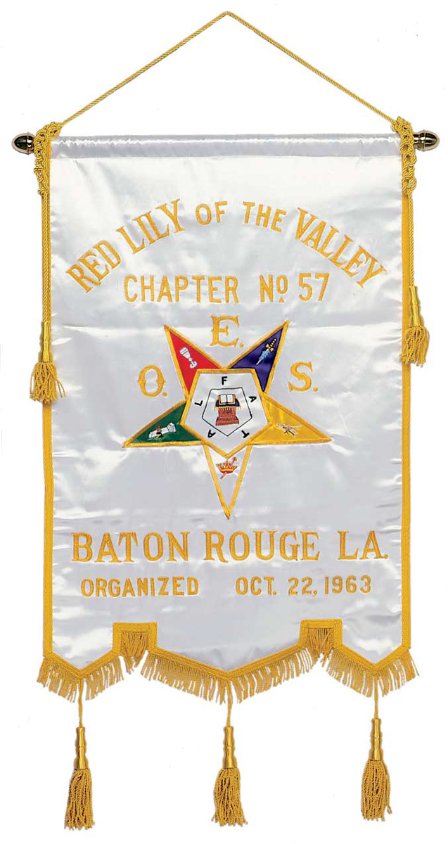 O.E.S. Chapter Banner with up to 30 letters