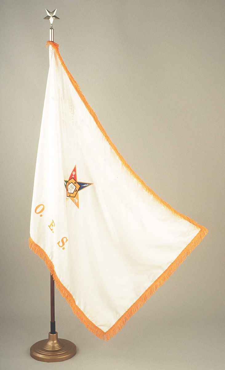 O.E.S. Flag with OES and Star on Both sides