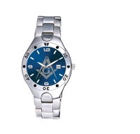 Masonic watch Silver with Blue dial