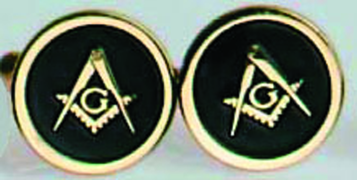 Masonic Cuff Links in gold filled