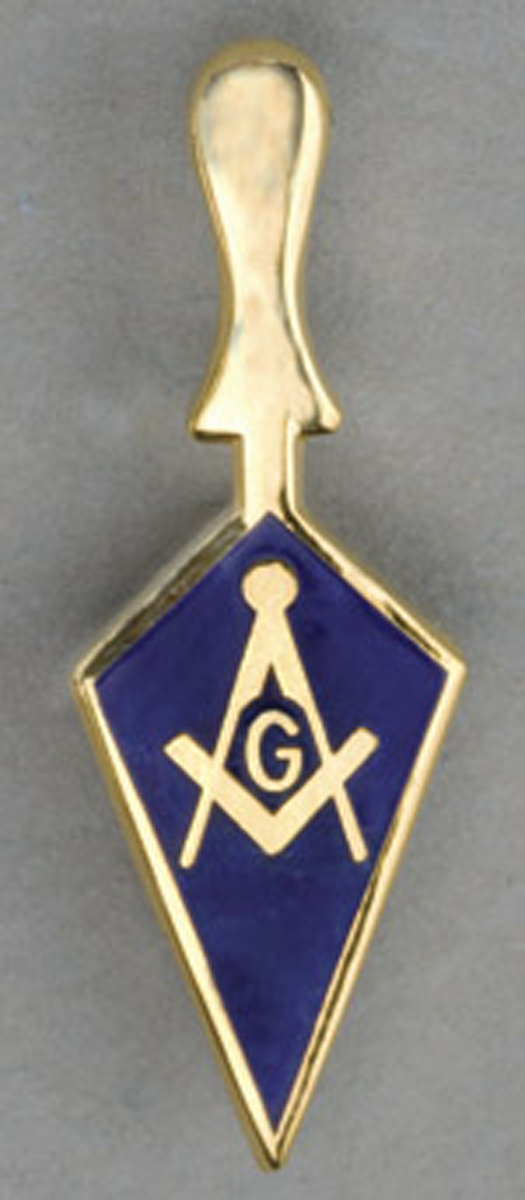 Masonic Trowel Lapel button