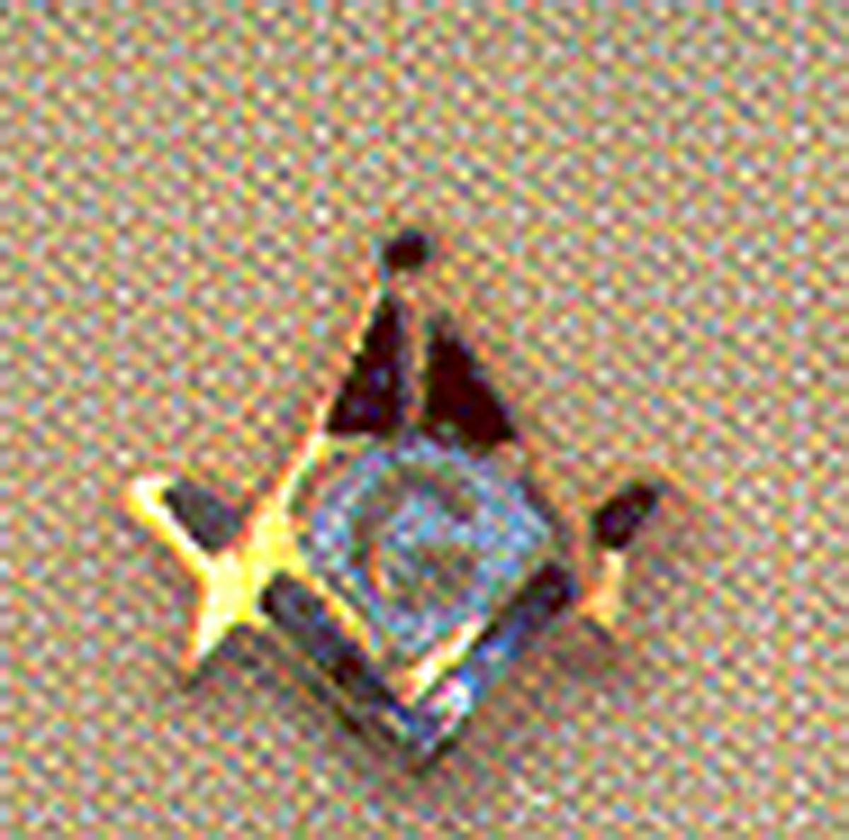 Masonic Lapel Button in 10K YG with blue and white enamel