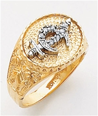 Masonic Shrine Ring Macoy Publishing Masonic Supply 3271SBL