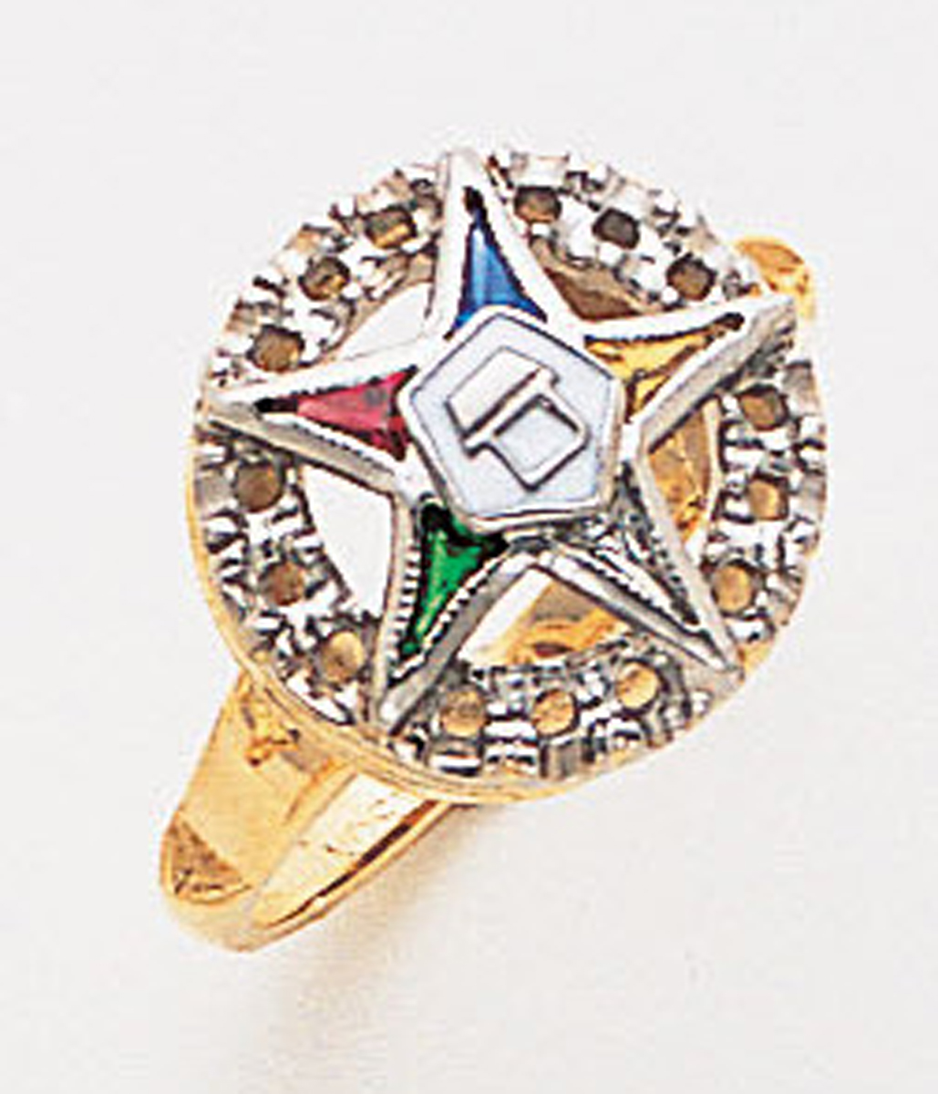 Order of the Eastern Star Ring Macoy Publishing Masonic Supply 3394