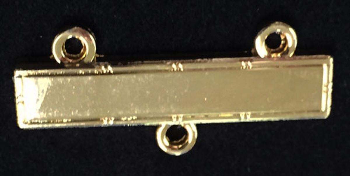 Gold Plate bar with 3 loops and jump rings