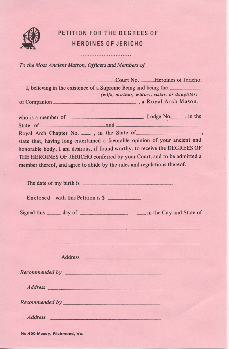 Heroines of Jericho Membership Petitions (12)