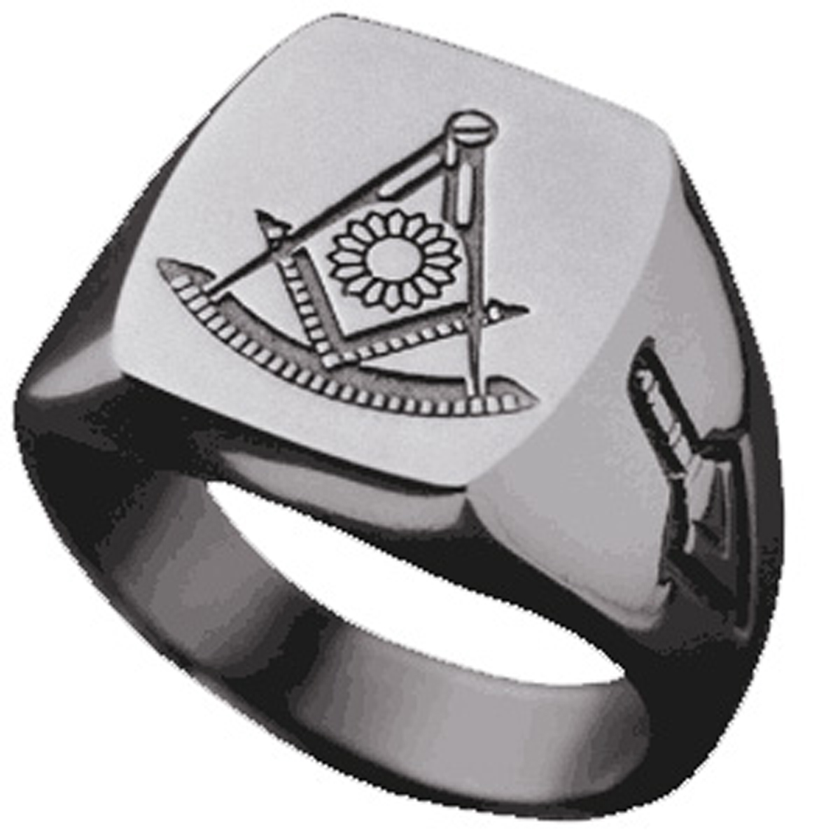 Past Master Ring - Classic Signet Style