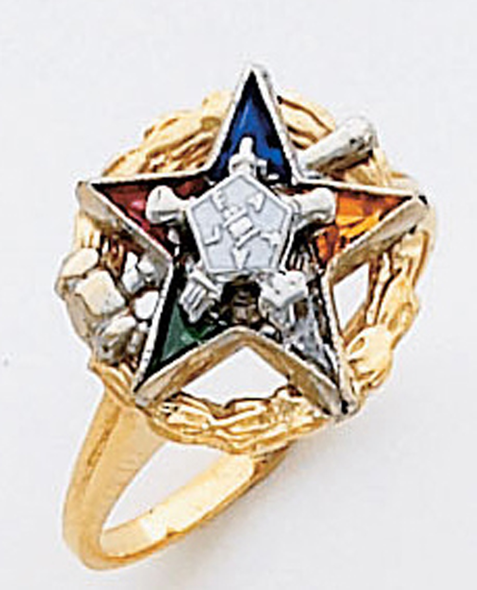 Order of the Eastern Star Ring Macoy Publishing Masonic Supply 5523