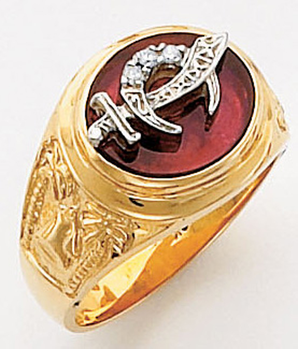 Masonic Shrine Ring Macoy Publishing Masonic Supply 5624BL