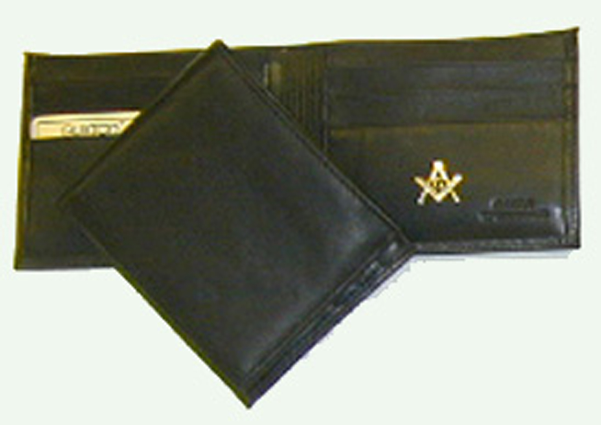 Black Thinfold Billfold w/ initials only
