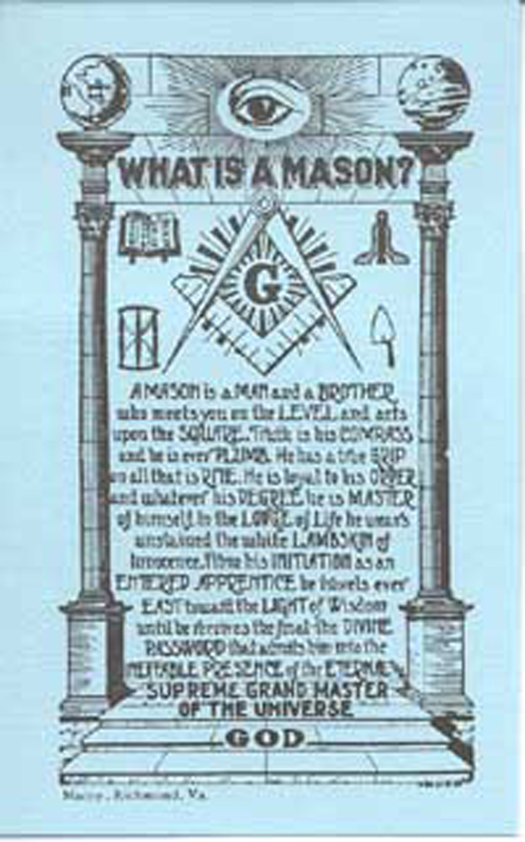 """What is a Mason Card"" (pack of 10)"