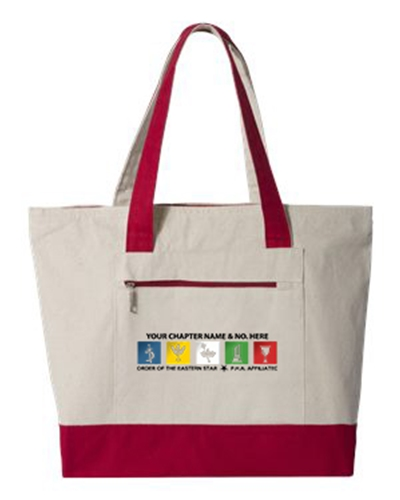 Personalized Canvas OES Zipper Tote