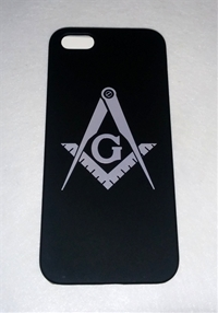 Black iPhone 6 case w/ Silver Masonic emblem