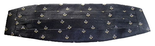 Masonic Loom Woven Cummerbund W/Adjustable Waist Band