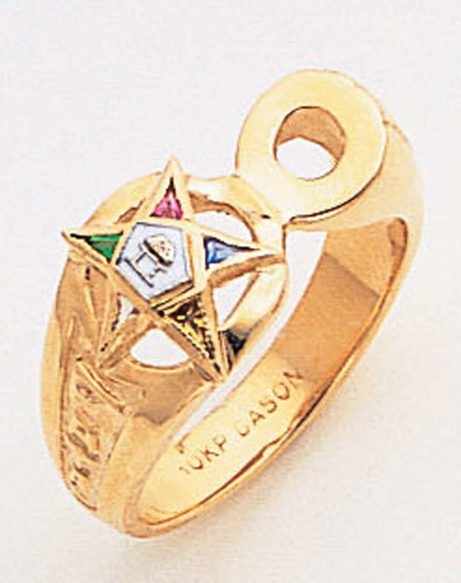 Order of the Eastern Star Ring Macoy Publishing Masonic Supply 8853