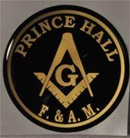 "Prince Auto Sales >> Polymer 2 1/2"" Prince Hall F&AM Masonic auto emblem"