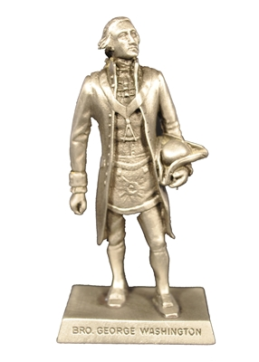 Washington Pewter Figurine