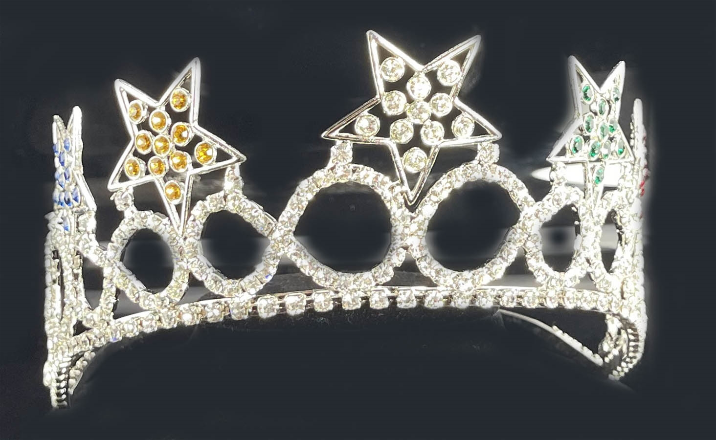 Iris-Order-of-the-Eastern-Star-Crown-in-silver-tone-with-colored-rhinestone-in-5-stars-P3027.aspx