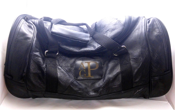Monogram Leather Travel Bag