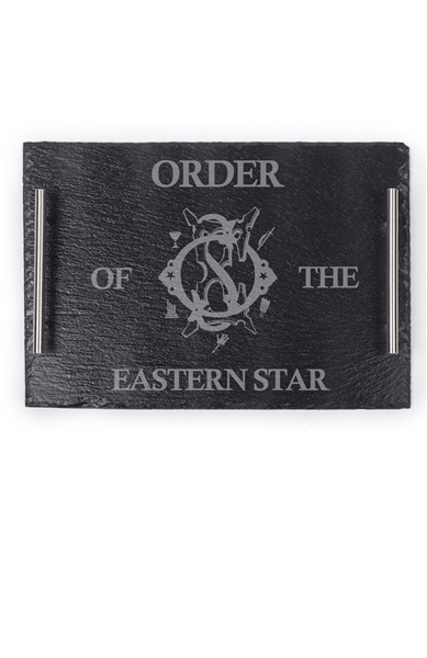 Eastern Star engraved Slate Tray