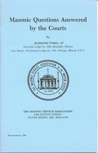 Masonic Questions Answered by the Courts