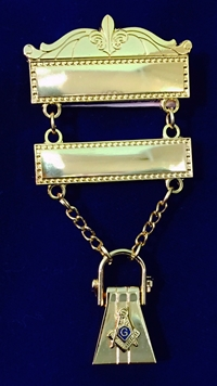 Masonic Traveling Jewel with Bar Pin Top