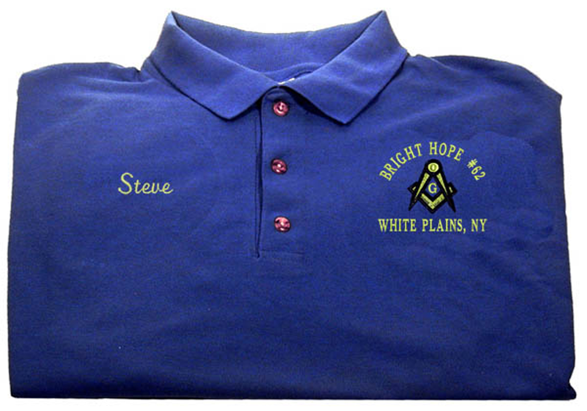 Social Tie Lodge 56 Masonic Golf Shirt