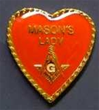Mason's Lady Heart Shaped Pin