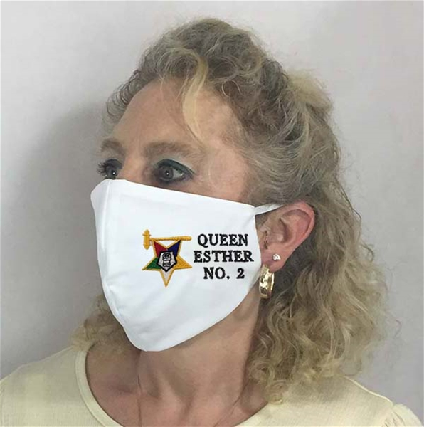 Custom Past Matron OES Chapter Face covering - Made in USA