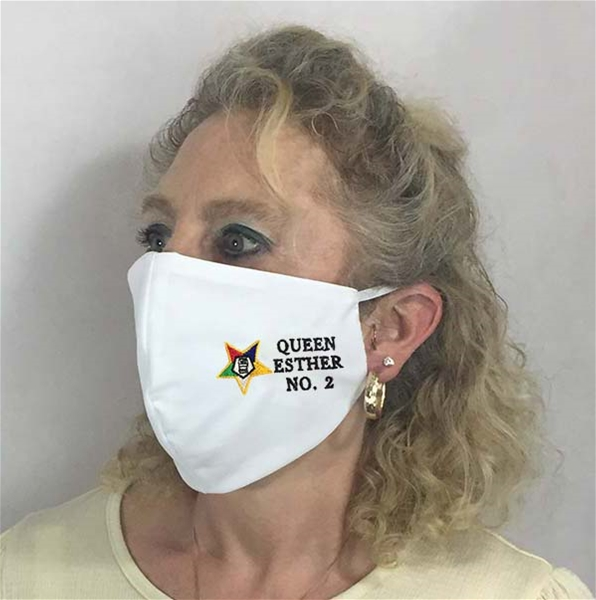 Custom OES Chapter Face covering - Made in USA