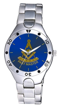 Past Master Watch w/ Emblem on Blue Face