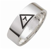 Scottish Rite 14 Degree Yod Ring- Sterling Silver