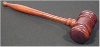 Ash wood Hammer Gavel in rosewood finish 11""