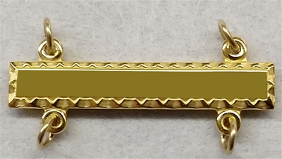 Gold filled bar with 4 loops and jump rings